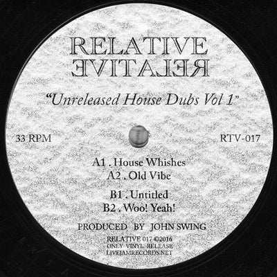 John Swing - Unreleased House Dubs Vol 1 - Unearthed Sounds