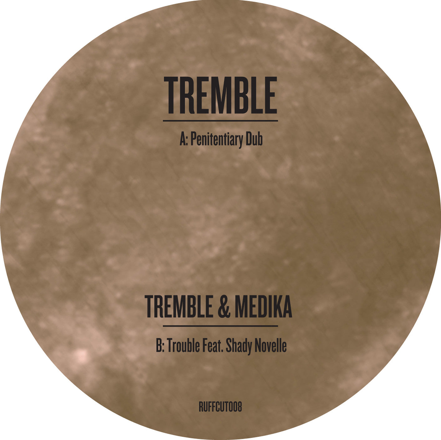"Tremble - Penitentiary Dub / Trouble [10"" Gold Vinyl] , Vinyl - Ruffcut, Unearthed Sounds"