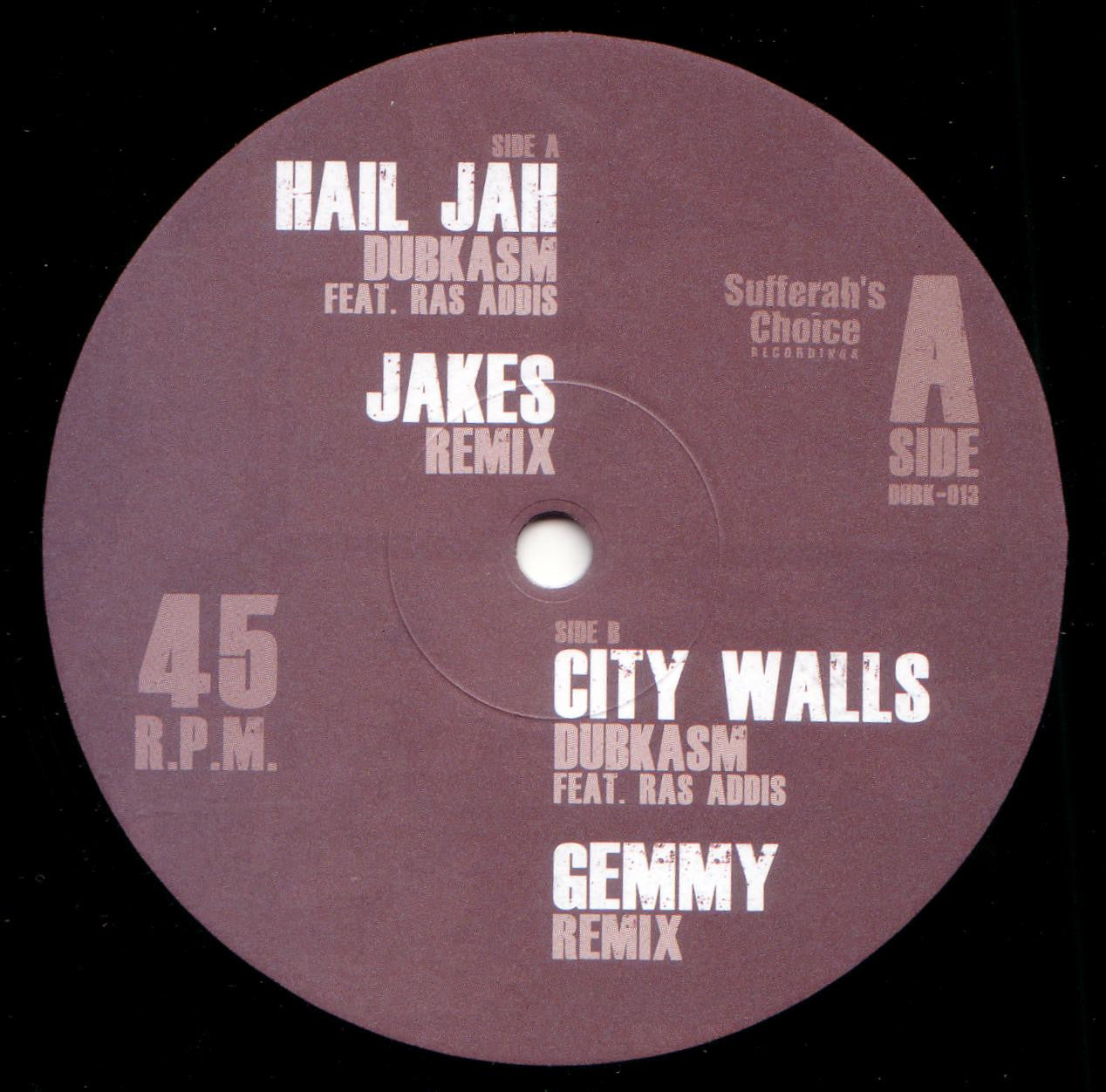 Dubkasm - Hail Jah (Jakes Remix) / City Walls (Gemmy Remix) - Unearthed Sounds