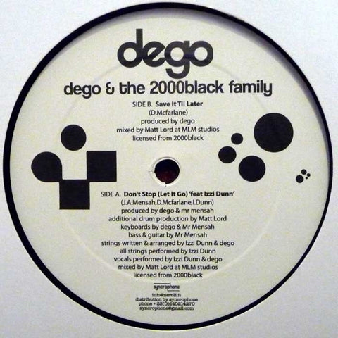 Dego - Dego & The 2000Black