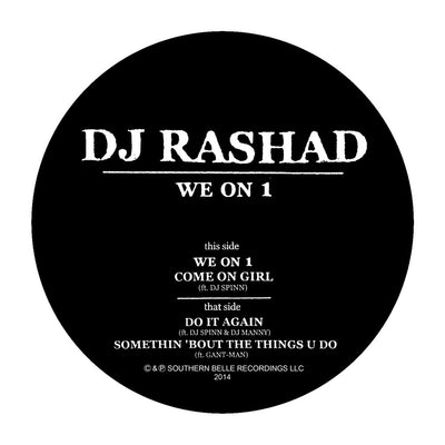 DJ Rashad - We on 1 [Plain Sleeve Repress] - Unearthed Sounds, Vinyl, Record Store, Vinyl Records