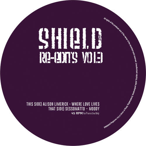 Shield Re-Edits - Vol 3 , Vinyl - Shield Edits, Unearthed Sounds