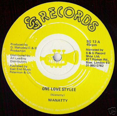 Nianatty - One Love Stylee - Unearthed Sounds