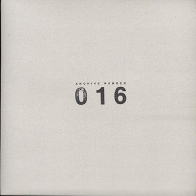 Various Artists - Archive Number 016