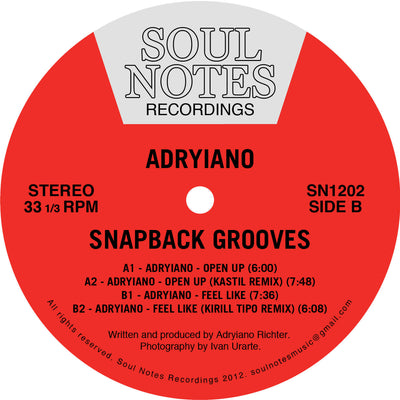 Adryiano - Snapback Grooves [Repress] - Unearthed Sounds