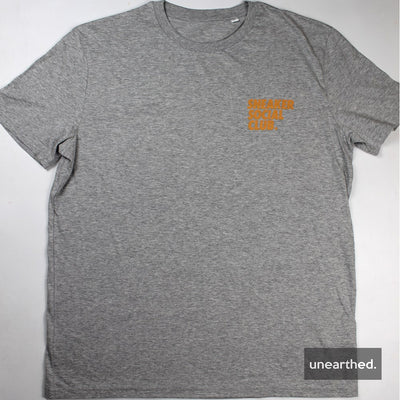 Sneaker Social Club T-Shirt - Grey w/ Orange Logo - Unearthed Sounds
