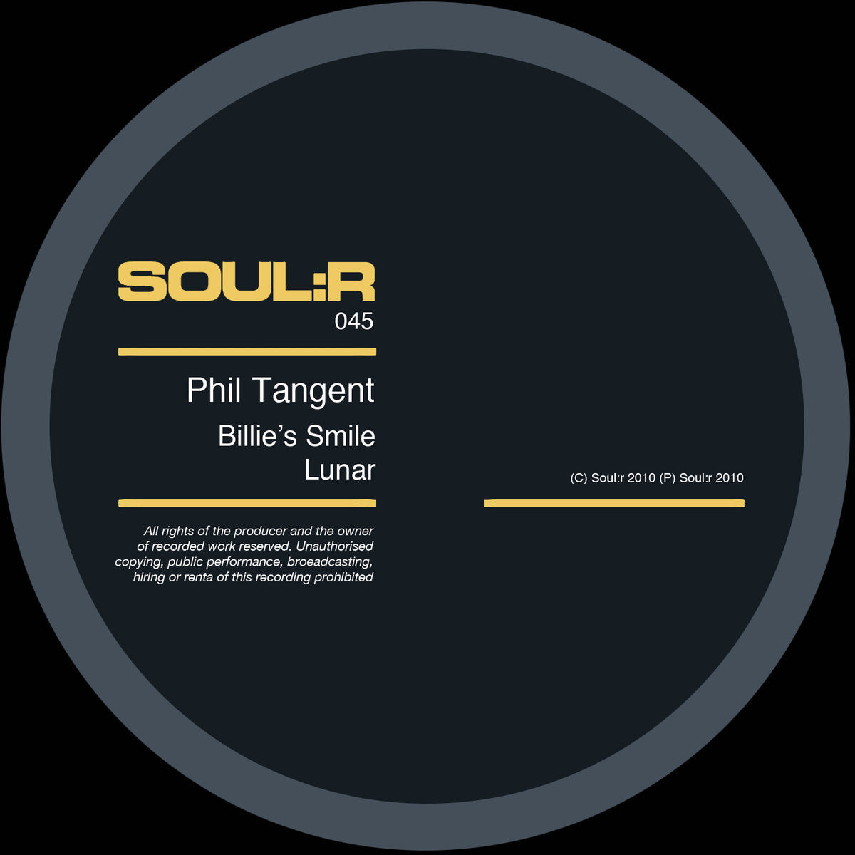 Phil Tangent - Billie's Smile - Unearthed Sounds