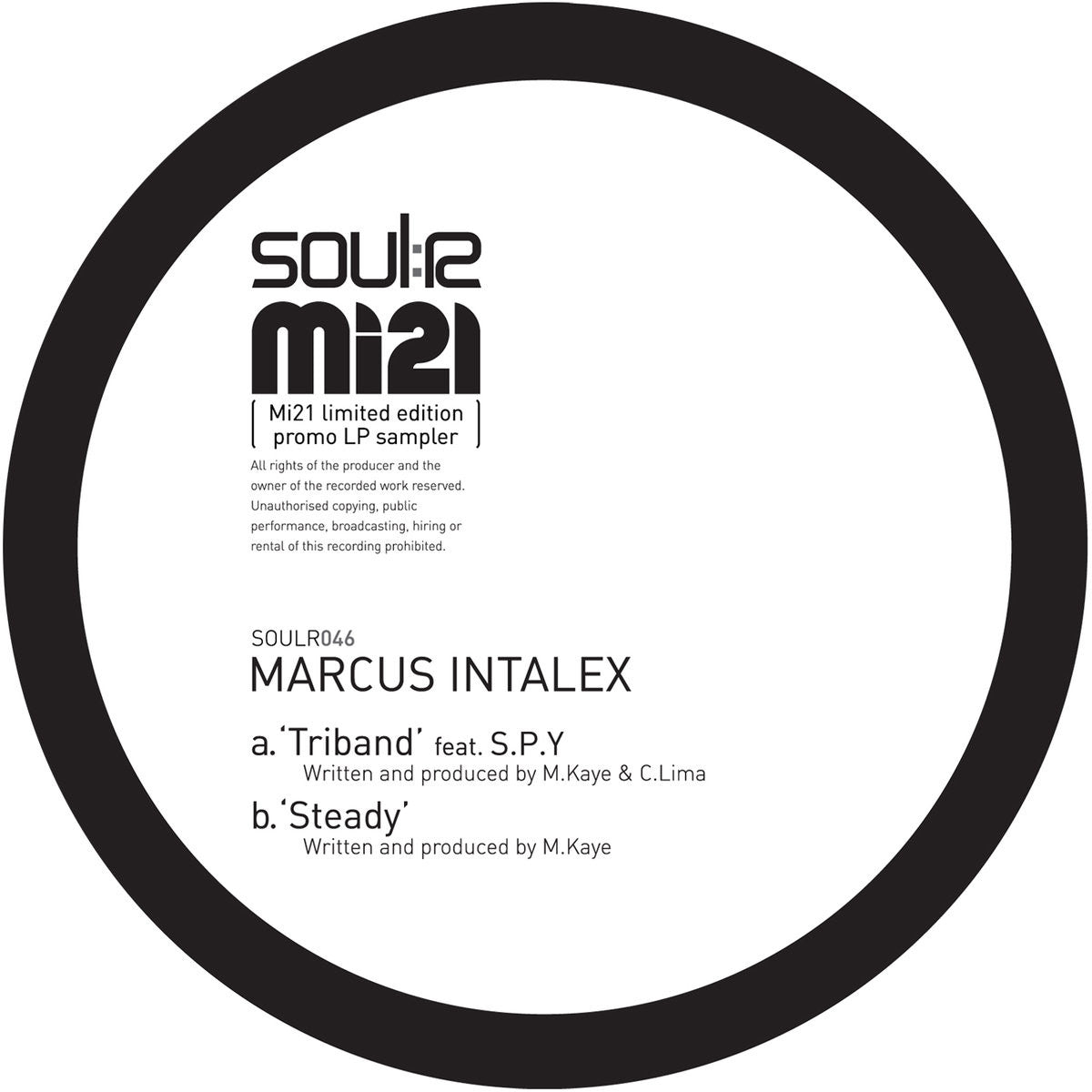 Marcus Intalex - Triband / Steady , Vinyl - Soulr, Unearthed Sounds