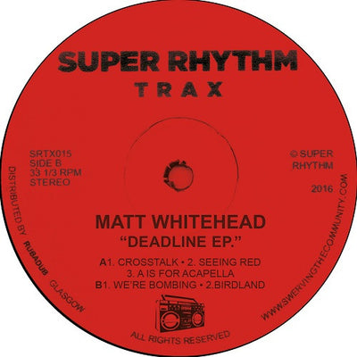 Matt Whitehead - Bombing EP - Unearthed Sounds, Vinyl, Record Store, Vinyl Records