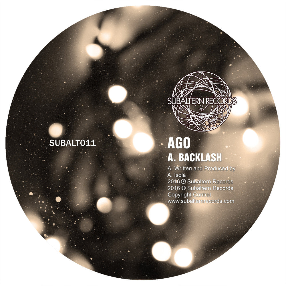 Ago - Backlash [Repress] , Vinyl - Subaltern Records, Unearthed Sounds