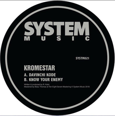 Kromestar - Davinchi Code / Know Your Enemy - Unearthed Sounds