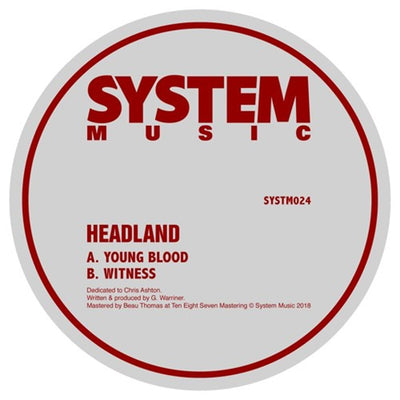 Headland - Young Blood / Witness