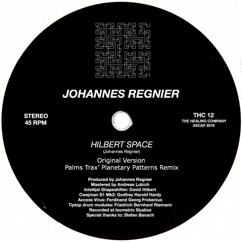 Johannes Regnier - Hilbert Space [w/ Remixes] , Vinyl - The Healing Company, Unearthed Sounds
