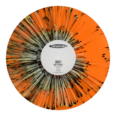 "Bakey - Take It Further EP [Orange & Black Splatter 12"" Vinyl Repress] - Unearthed Sounds"