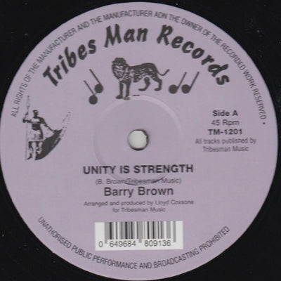 Barry Brown & Drumie Benji - Unity Is Strength