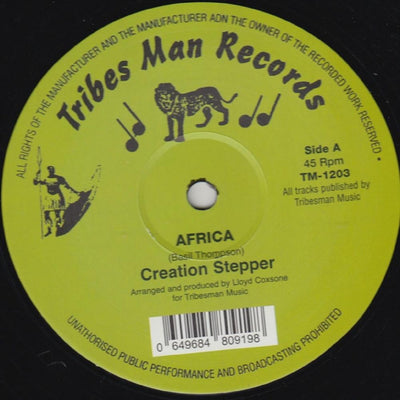 Creation Stepper & Pebbles - Africa - Unearthed Sounds