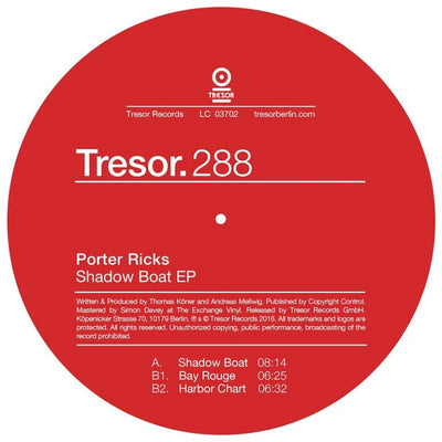Porter Ricks - Shadow Boat EP , Vinyl - Tresor, Unearthed Sounds