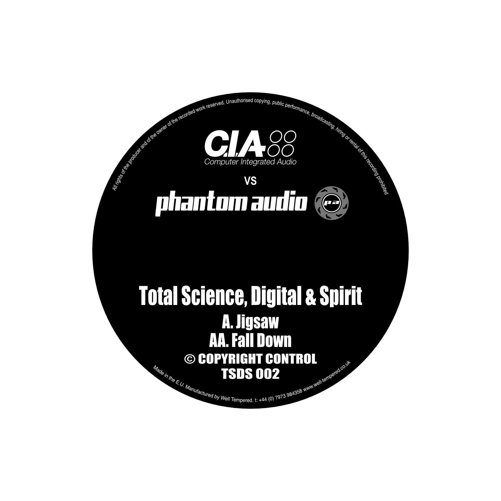 C.I.A v Phantom Audio Vol.2 , Vinyl - CIA v Phantom Audio, Unearthed Sounds