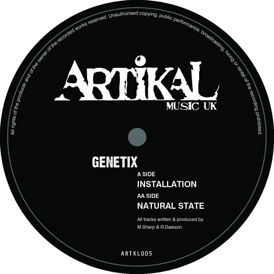 Genetix ‎– Installation / Natural State - Unearthed Sounds