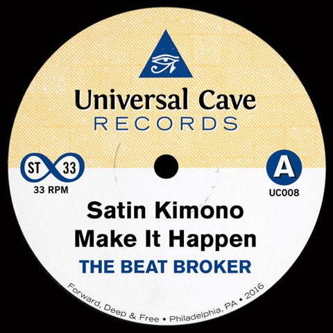 The Beat Broker - Satin Kimono