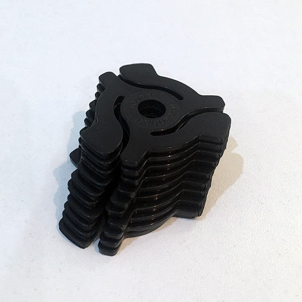 "Pack of 10 7"" Adaptors (Black) , Vinyl Adapter - Unearthed Sounds, Unearthed Sounds"