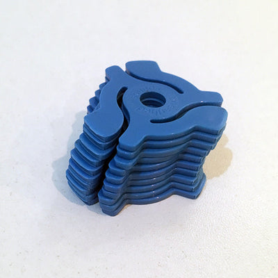 "Pack of 10 7"" Adaptors (Blue) - Unearthed Sounds"
