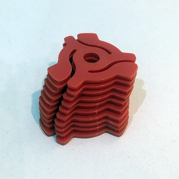 "Pack of 10 7"" Adaptors (Red) , Vinyl Adapter - Unearthed Sounds, Unearthed Sounds"