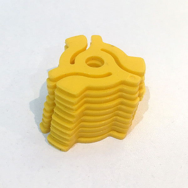 "Pack of 10 7"" Adaptors (Yellow) , Vinyl Adapter - Unearthed Sounds, Unearthed Sounds"