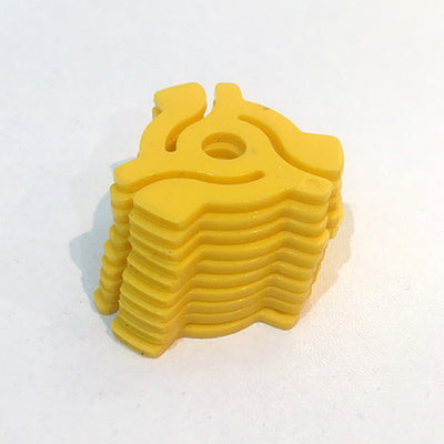 "Pack of 10 7"" Adaptors (Yellow) - Unearthed Sounds"