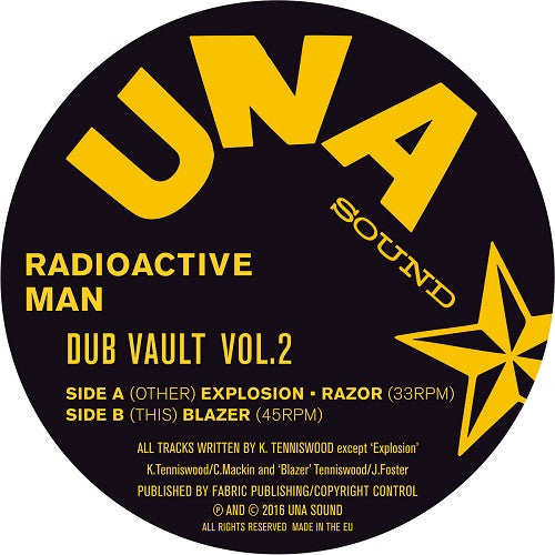 Radioactive Man - Dub Vault Vol.2 , Vinyl - UNA Records, Unearthed Sounds