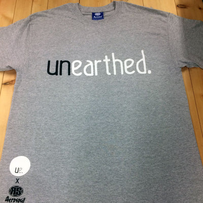 Unearthed x Aerosoul (Grey) Collaboration Heavy Blend T-Shirt - Unearthed Sounds