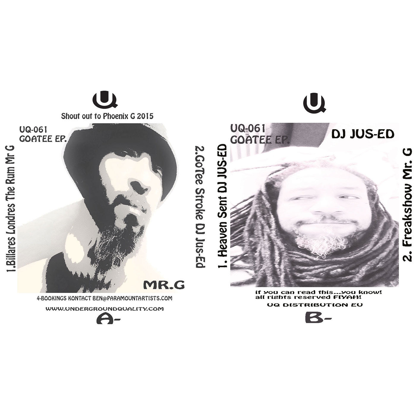 DJ Jus-Ed & Mr G - Gotee EP - Unearthed Sounds