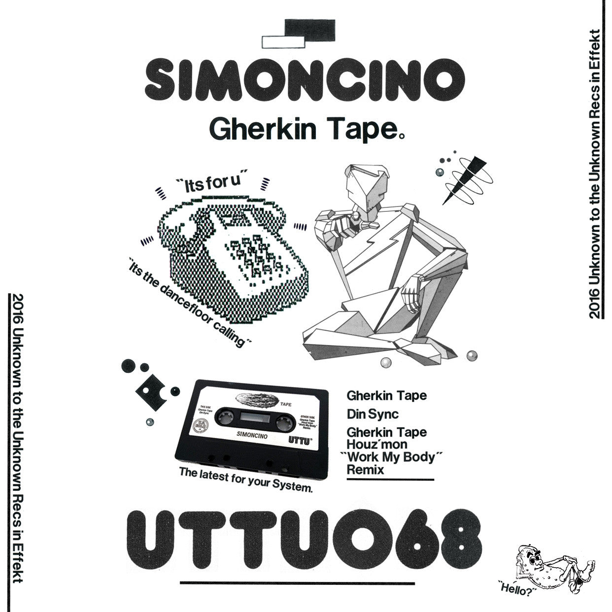 Simoncino - Gherkin Tape , Vinyl - Unknown To The Unknown, Unearthed Sounds