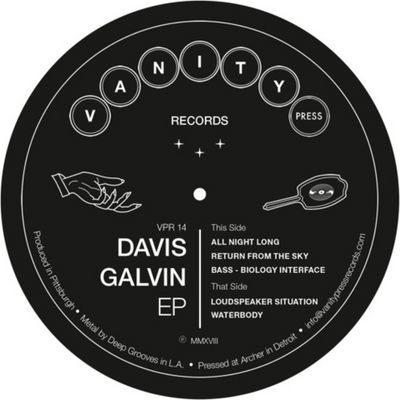 Davis Galvin EP - VPR14 - Unearthed Sounds, Vinyl, Record Store, Vinyl Records