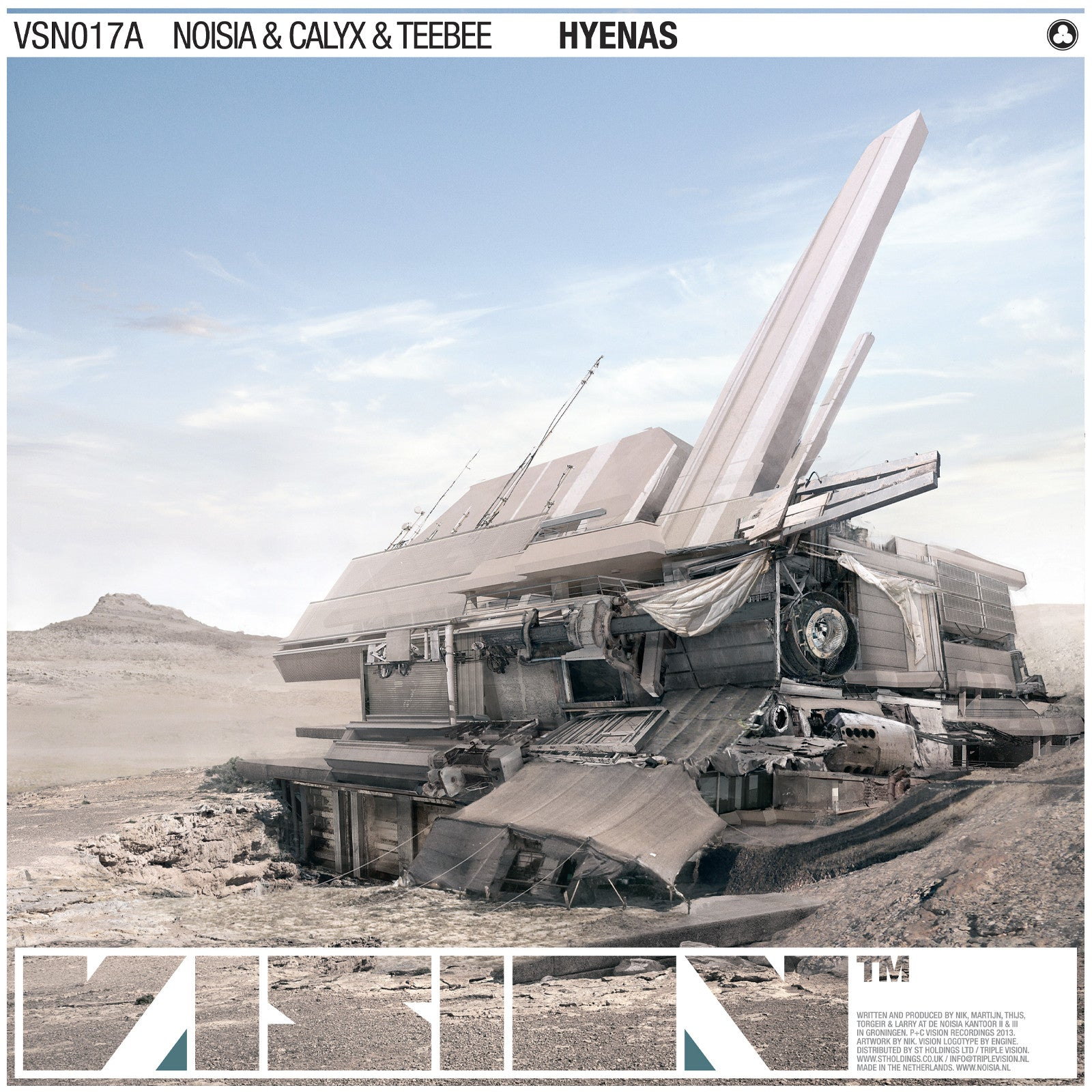 Noisia, Calyx, Teebee & Evol Intent - Hyenas / The Liquid , Vinyl - Vision Recordings, Unearthed Sounds