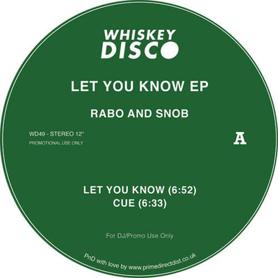 Rabo & Snob - Let You Know EP - Unearthed Sounds