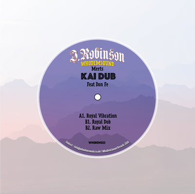 "J.Robinson WhoDemSound Meets Kai Dub Feat Don Fe (180g 12"") - Unearthed Sounds"