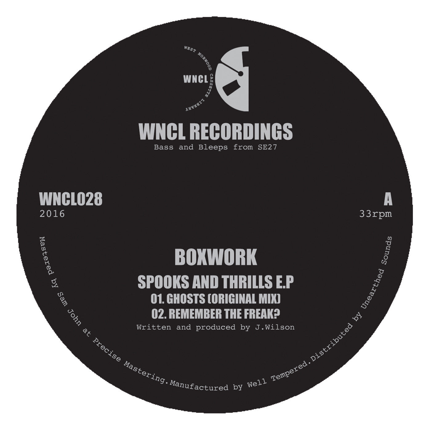 Boxwork - Spooks and Thrills EP , Vinyl - WNCL Recordings, Unearthed Sounds