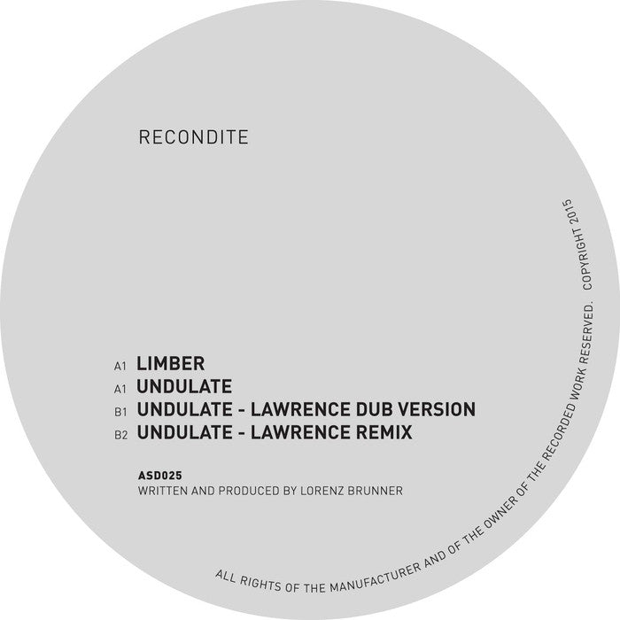 Recondite - Limber / Undulate & Lawrence Mixes - Unearthed Sounds