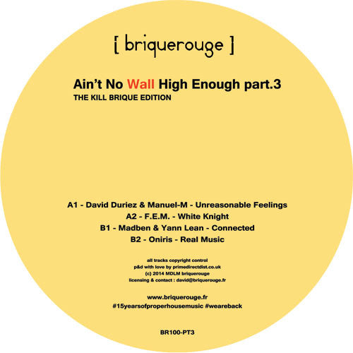 Various Artists - Ain't No Wall High Enough Part 3 - Unearthed Sounds