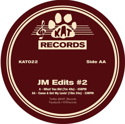 JM Edits 2 - What You Did / Come & Get My Lovin' - Unearthed Sounds, Vinyl, Record Store, Vinyl Records