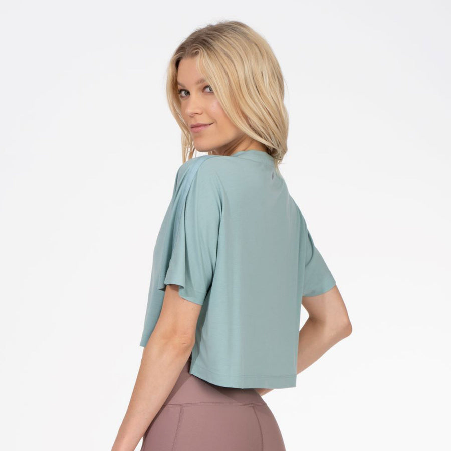 Thrive Société Linear Crop Tee