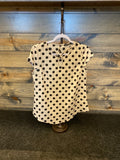 Cream with Black Polka dot Top