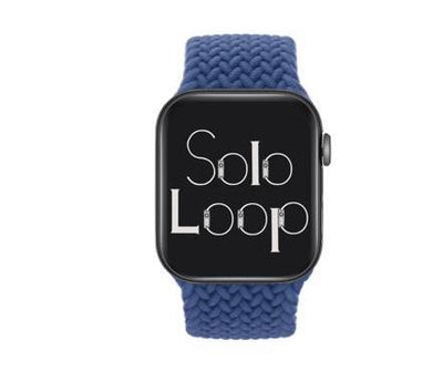 Atlantic Blue Braided Solo Loop for Apple Watch