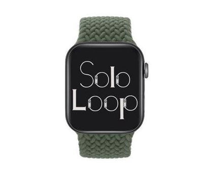 Inverness Green Braided Solo Loop for Apple Watch