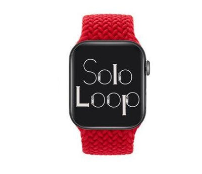 Red Braided Solo Loop for Apple Watch