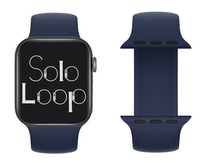 Deep Navy Silicone Solo Loop for Apple Watch
