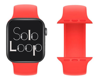 Pink Citrus Silicone Solo Loop for Apple Watch