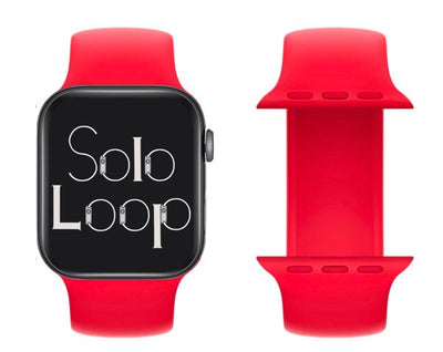Red Silicone Solo Loop for Apple Watch