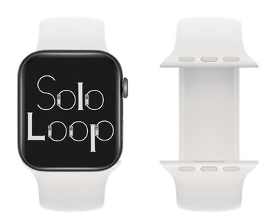 White Silicone Solo Loop for Apple Watch